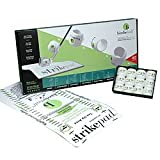 Birdie Ball Limited Distance Golf Practice Ball Twelve Ball Pack with Strike Pad