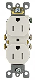 15 Amp, 125 Volt, Tamper Resistant, Duplex Receptacle, Residential Grade, Self Grounding, White, T5320-SW