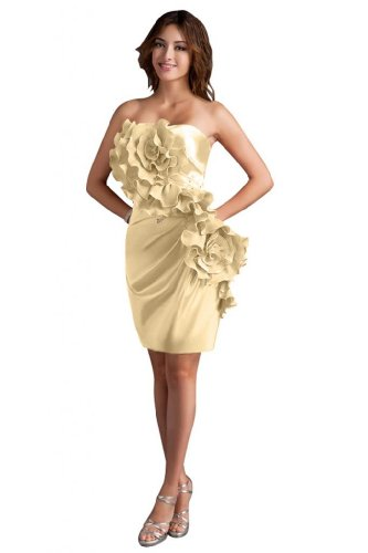 31C AJxdqUL Sale off: Emma Y Lady Womens Strapless Handmade Flower Short Dress