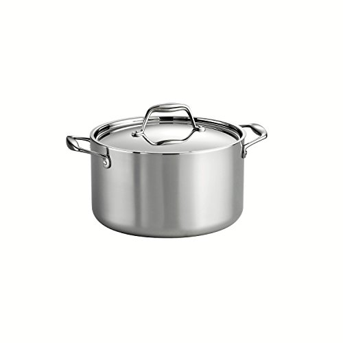 Tramontina 80116/040DS Gourmet 18/10 Stainless Steel Induction-Ready Tri-Ply Clad Covered Sauce Pot, 6-Quart, Stainless (High Sauce Pot compare prices)