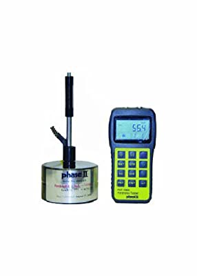 "Phase II PHT-1800 Portable Hardness Tester, 200-960 HL Measuring Range, 6"" W x 3"" H x 1.25"" W"