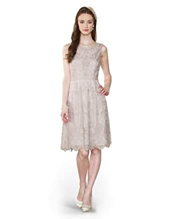 Monsoon Womens Beatrice Lace Dress Size 14 Nude