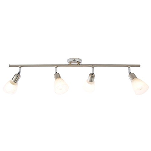 Litecraft Pack of 4 IP65 Rated LED Bathroom GU10 Downlights in Brushed Brass with Bulbs Home Lighting