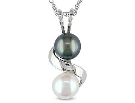 6-6.5 mm Freshwater Pearl Pendant in 10k White Gold