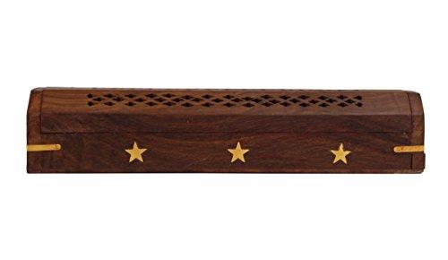 De madera de palisandro Guru shop con bolsillo de almacenamiento con relleno de elefantes y detalles de latón incrustaciones de regalos para hombres y mujeres
