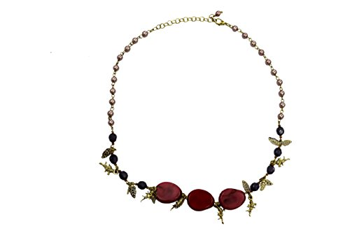 Anant Fashion Jewelry Necklace With Color Agate And Imitation Stone 24.26 Gms (Multicolor)