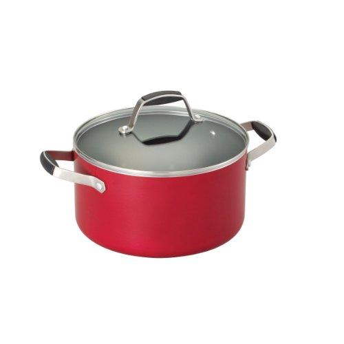 Guy Fieri 5099811 Nonstick Dutch Oven, 5-1/2-Quart, Red front-173193
