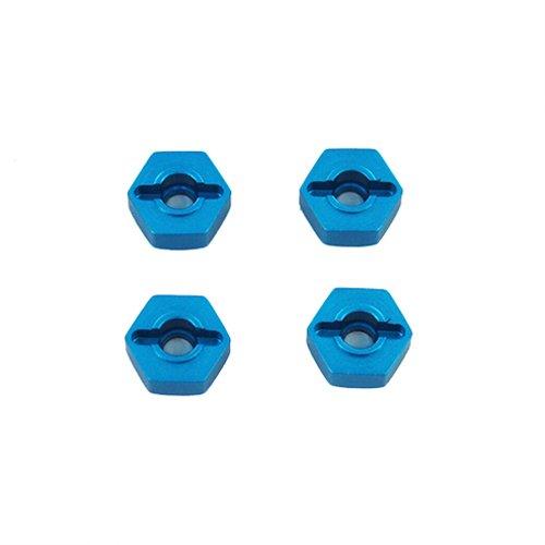 Redcat Racing Aluminum Wheel Hex, 4-Piece, 12mm, Blue
