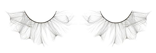 [Zink Color Pure White Feather False Eyelashes F147 Dance Halloween Costume] (Halloween Costumes White Eyes)