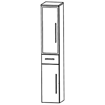 Puris Swing (HNA053B7ML / R Tall Cupboard Bathroom Cupboard 30 CM