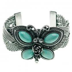 Turquoise Butterfly Cuff Bangle