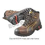 Men's Puma Safety Sierra Nevada EH Waterproof Mid Safety Toe Boots, Brown, 9D
