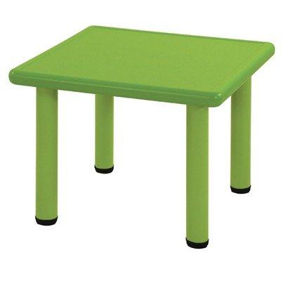 Ecr4Kids Square Plastic Kids Table Leg Height: 20, Color: Green