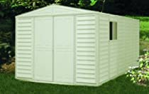 Hot Sale DuraMax Model 00514 10x13 WoodBridge Vinyl Storage Shed with foundation