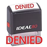 DENIED Red Office Stock Self-Inking Rubber Stamp