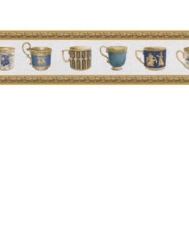 Coffee Cups Border Pattern #9X7Hgsr8