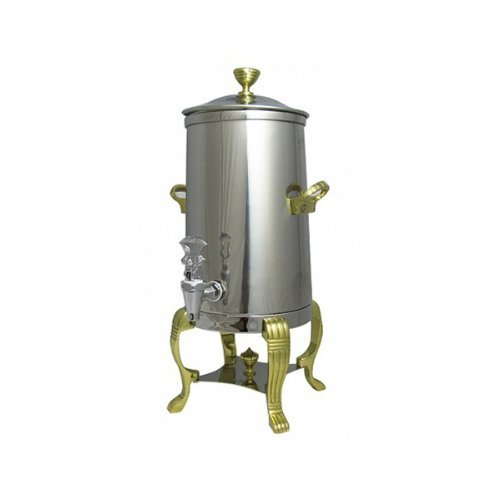 Bon Chef 40003 Stainless Steel Aurora Insulated Coffee Urn, 3 Gal Capacity, Brass Accents
