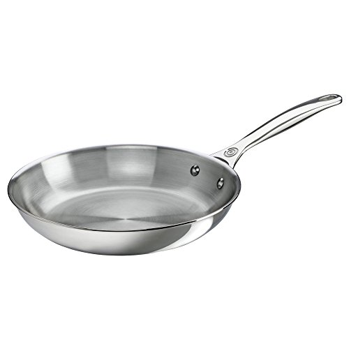 Le Creuset Tri-Ply Stainless Steel Fry Pan, 10-Inch (Stainless Steel Fry Pan 10 compare prices)