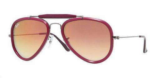 026d16ee74 Ray Ban Unisex Rb3428 Outdoorsman Road Spirit Gunmetal   Fuchsia  Frame Violet Mirror Lens Metal Plastic Sunglasses