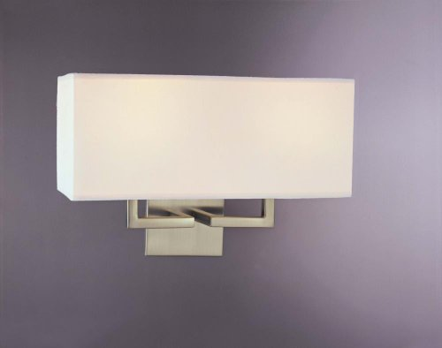 """Kovacs Gk P472 2 Light 11"""" Height Wall Sconce With Rectangle Shade, Brushed Nickel"""