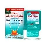 THREE PACKS of Ultra Chloraseptic Throat Spray Original Menthol Flavour x 15ml