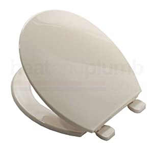 Bemis 7200 SOFT CREAM Coloured Plastic Toilet Seat And Cover With Adjustable