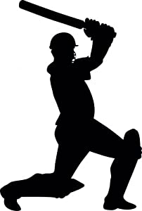Amazon.com - Wallmonkeys WM252962 Cricket Silhouette - 12 Peel and
