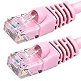 100FT Cat5e 350MHz UTP Ethernet Network Cable - Pink