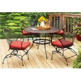 Better-Homes-and-Gardens-Clayton-Court-5-piece-Patio-Dining-Set-Wrought-Iron-Table-and-4-Chairs-Red-Cushions-Seats-4
