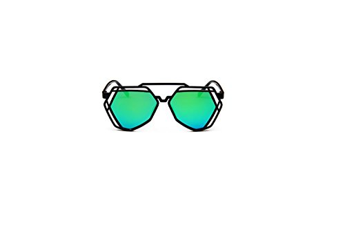 Darkey Wang Fashion Women Polygon Retro Ultra-light Gold Sunglasses
