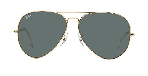 RAY BAN AVIATOR RB3026 Sunglasses - Gold L2846 Large (62mm) (Made In Italy Ray Ban Sunglasses compare prices)