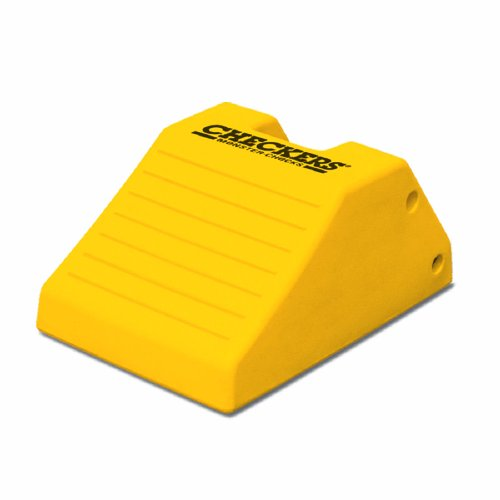 "Monster MC1912 Heavy Duty Off-Road Urethane Wheel Chock, 240 ton Load Capacity, Yellow, 21.9"" Length, 14.9"" Width, 10.6"" Height"