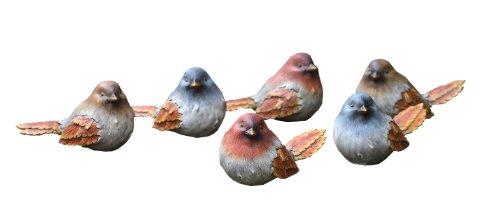 Napco Small Brick-Look Birds, 6 Assorted, 5-3/4-Inch Long