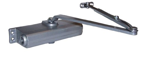 LCN 1260 Hydraulic Door Closer, Aluminum Powder Coat Finished, Cast Iron, Non-Handed, Regular Arm with Parallel Arm Shoe