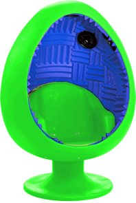 5.1 Sound Egg Chair   Bright Green/Blue