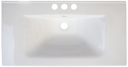 American Imaginations 430 32-Inch by 18-Inch White Ceramic Top with 8-Inch Centers