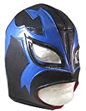 Image of SHOCKER Lucha Libre Wrestling Mask (pro-fit) Costume Wear - Black/Blue