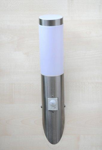Edelstahl-Außenwandleuchte mit Sensor