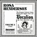 Complete Recorded Works, Vol. 2 Rosa Henderson