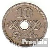 Dinamarca km-No.. : 822 1924 muy ya Cobre-Nickel 1924 10 Öre Gekröntes Monograma (monedas para los coleccionistas)
