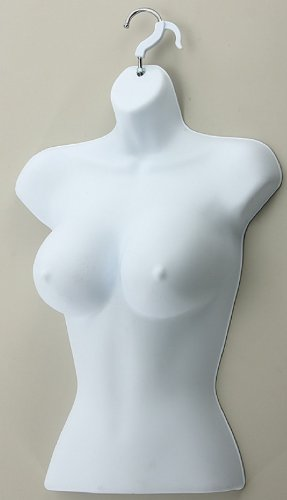 Brand New High Quality Female Wall Hook Hanging Mannequins White Box of 3 (357W)