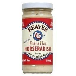 BEAVER HORSERADISH XHOT, 4 OZ