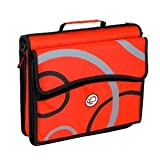 RED-Case-it-3-Ring-Zippered-Binder-Tabbed-Expandable-Detachable-File----USPS-PRIORITY-MAIL---