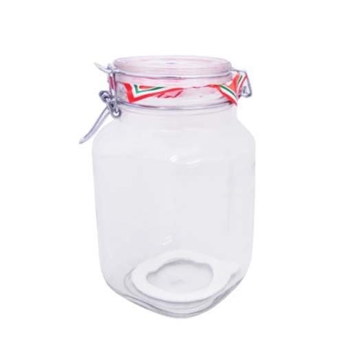 Bormioli Rocco Fido Glass Round Jar, 3 Liter