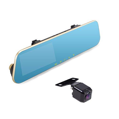 AUTO-VOX M2 Dual lens Rearview Mirror Dash Cam