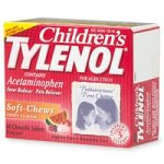 Children's Tylenol Fever Reducer & Pain Reliever, Fruit Flavor, Ages 2-11 - 60 Chewable Tablets
