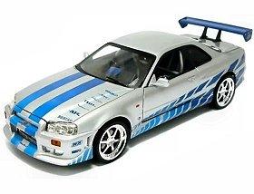 "Amazon.com: Ertl 1/18 Nissan R34 Skyline ""Fast And Furious"": Toys"