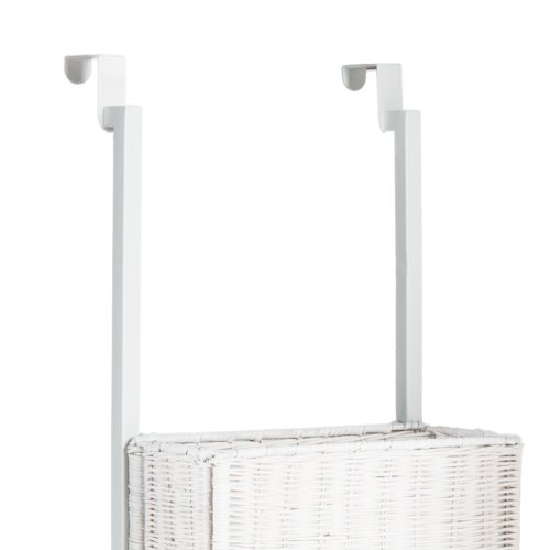 Southern Enterprise Over-The Door 3-Tier Basket Storage, White