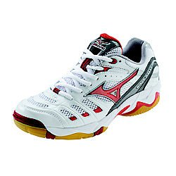 Mizuno Women's Wave Rally 2 Volleyball Shoes, White/Red, 5
