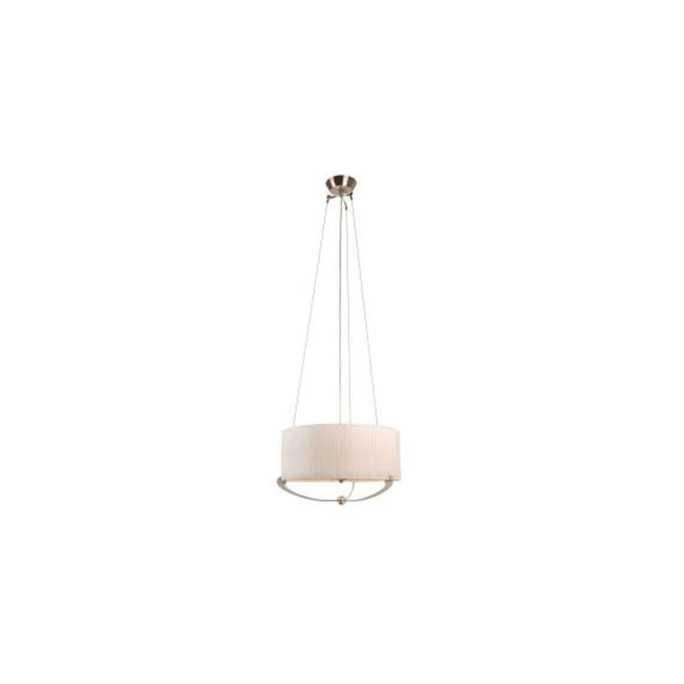 Hampton Bay Sully Collection 4 Light 102 in. Hanging Satin Nickel Large Pendant